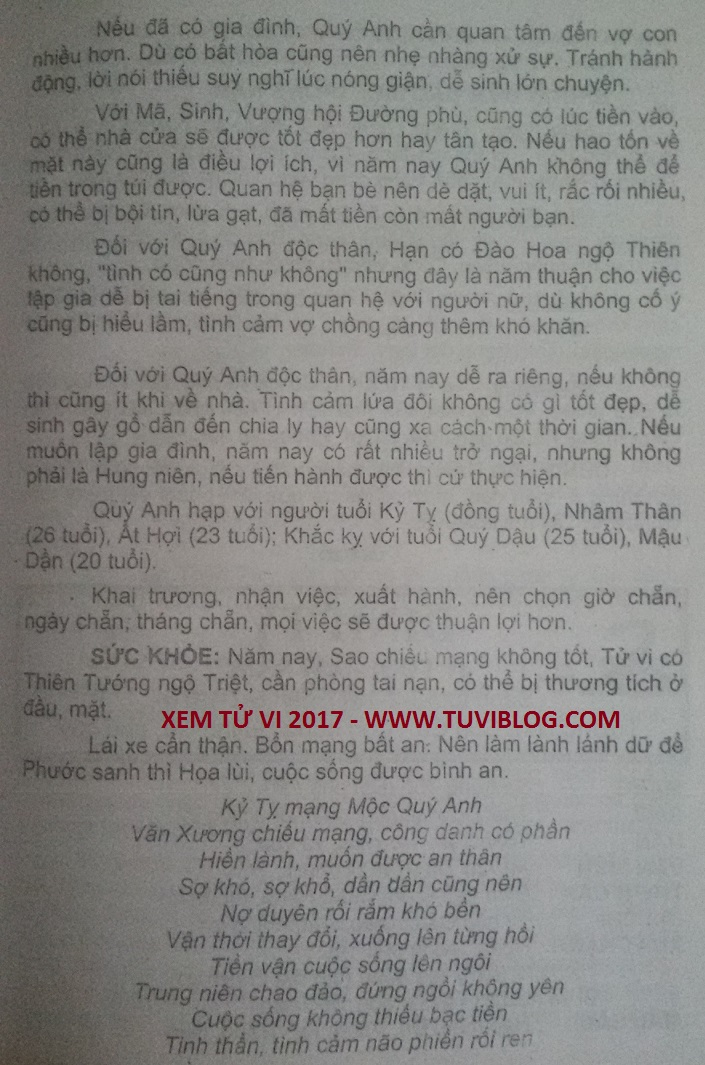 Tu Vi Tuoi Ky Ty Nam 2017