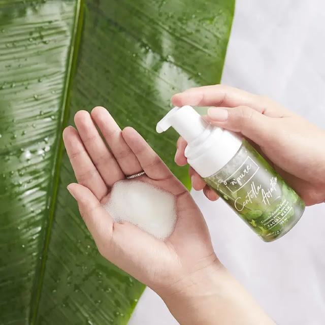 Npure Face Wash Tekstur dan Formula Ringan