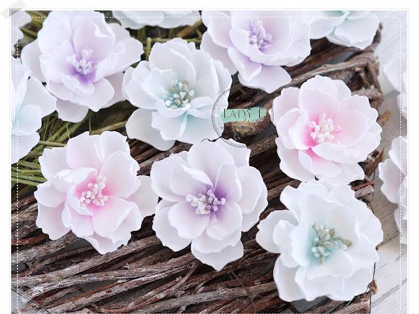 DIY Pastel Foamiran Flowers Video Tutorial