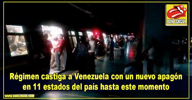 Régimen castiga a Venezuela con un nuevo apagón en 11 estados del país