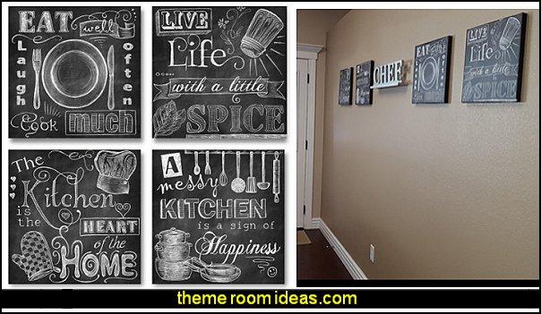 Chalkboard-Style Kitchen Signs