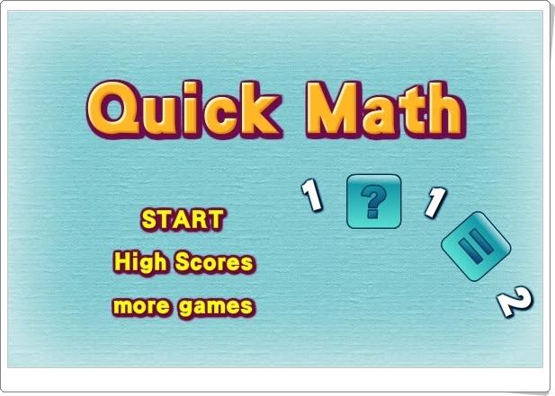 """JUEGOS DE FIN DE CURSO: """"Quick Math"""" (Juego de cálculo mental de 4º de Primaria)"""