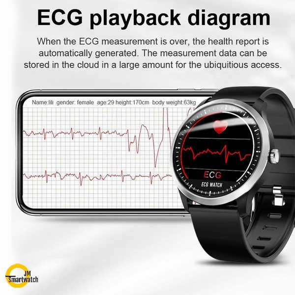 JM ECG Smartwatch Blood Pressure watch heart rate monitor