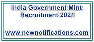 India Government Mint Recruitment 2021