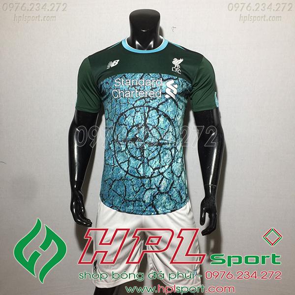 Áo câu lạc bộ Liverpool màu xanh 2020