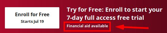 Coursera Financial Aid Creative Writing