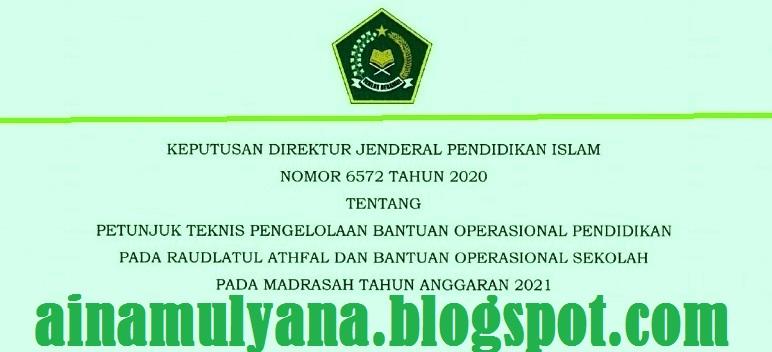 Juknis BOS Madrasah MI MTS MA dan BOP Raudhatul Athfal RA Tahun  JUKNIS BOS MADRASAH (MI MTS MA) DAN BOP RA TAHUN 2021
