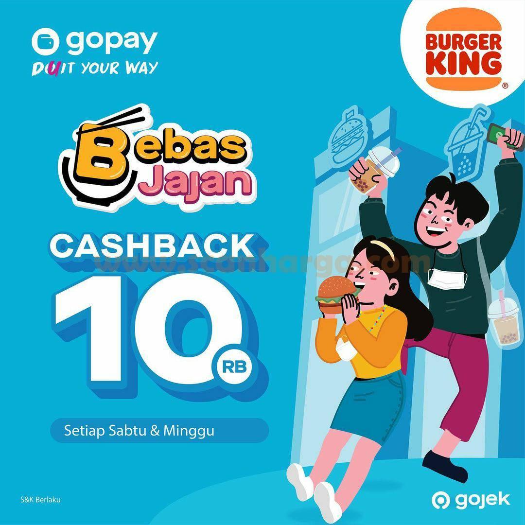 Promo Burger King cashback Rp10.000 untuk pembayaran dengan GoPay