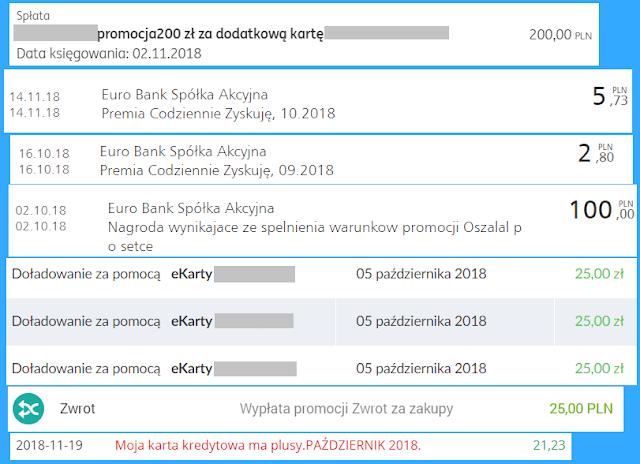 Moje zarabianie na bankach - podsumowanie października 2018 roku