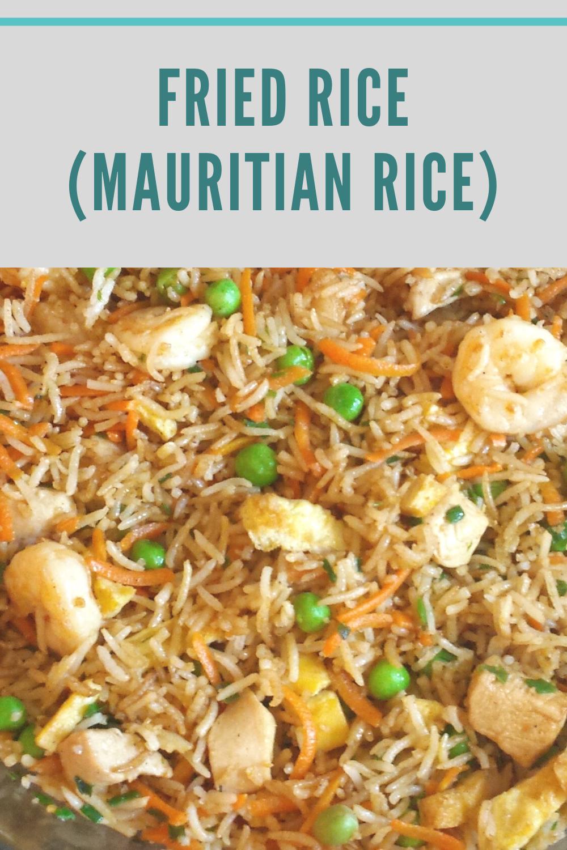 Fried rice (Mauritian rice)