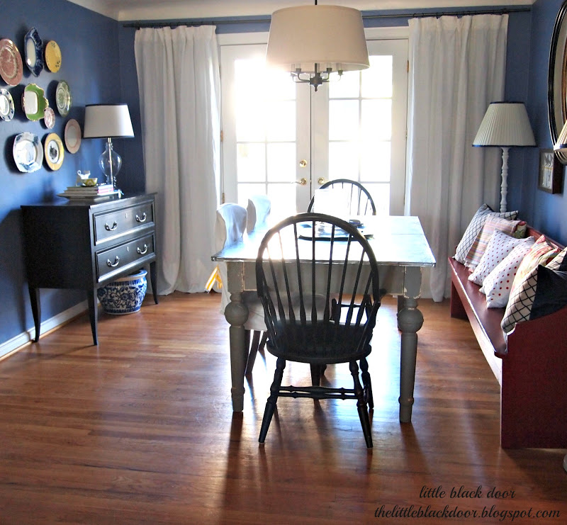 Little Black Door: Rug-less Dining Rooms