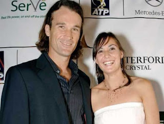 Fabio Fogninis Wife Flavia Pennetta With Ex Boyfriend Carlos Moya