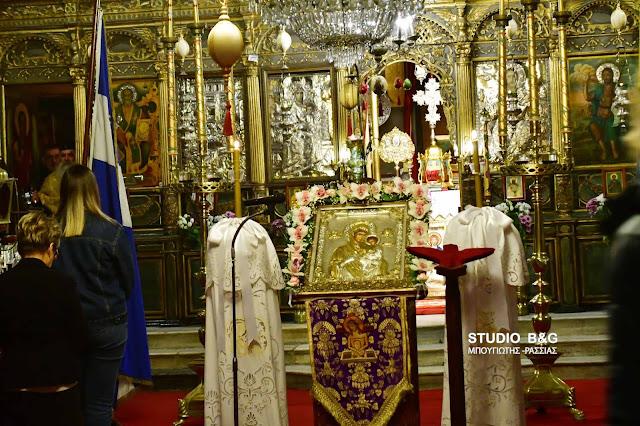 Η δεύτερη στάση των χαιρετισμών στην Παναγία Ναυπλίου (βίντεο)