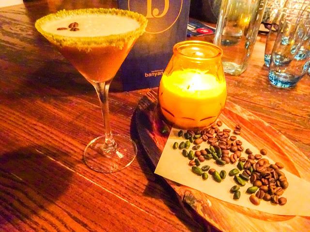 Pistacho Espresso Martini at Banyan Bar and Kitchen Manchester