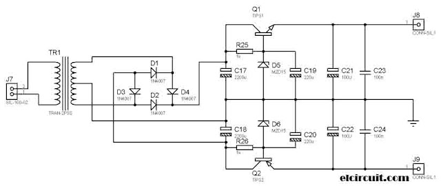 Power Supply Circuit for Stereo Tone Control