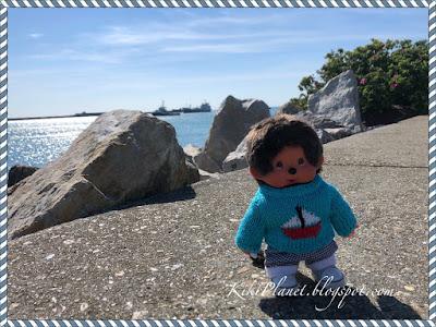 kiki monchhichi doll toys life cute kidult le havre bateau port plaisance plage mer