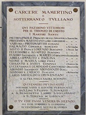 List of Prisoners at the Mamertine Prison