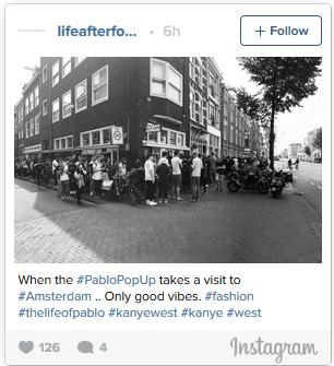 Kanye West Pop Up Store Lines