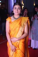 Shalini Pandey in Beautiful Orange Saree Sleeveless Blouse Choli ~  Exclusive Celebrities Galleries 055.JPG