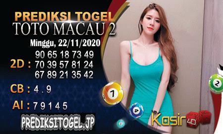 Prediksi Kasir4D Toto Macau Minggu 22 November 2020