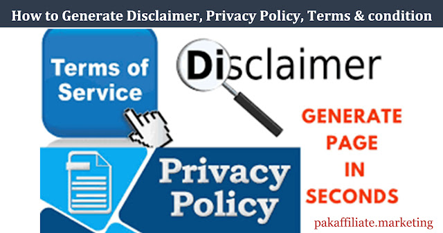how to generate disclaimer