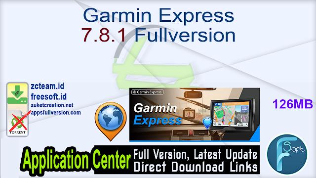 Garmin Express 7.8.1 Fullversion