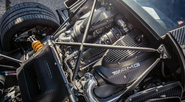 2017 Pagani Huayra BC Engine