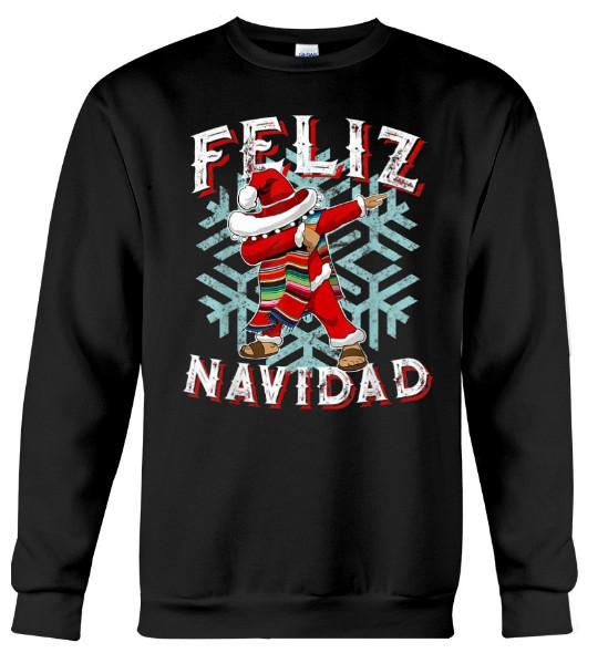 Feliz Navidad T-Shirt, Feliz Navidad T-Shirt Dabbing Christmas Sombrero,