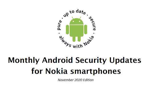 List of Nokia smartphones receiving November 2020 Android Security patch
