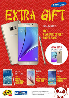 Promo Imlek Samsung Extra Gift di Global Teleshop dan OkeShop