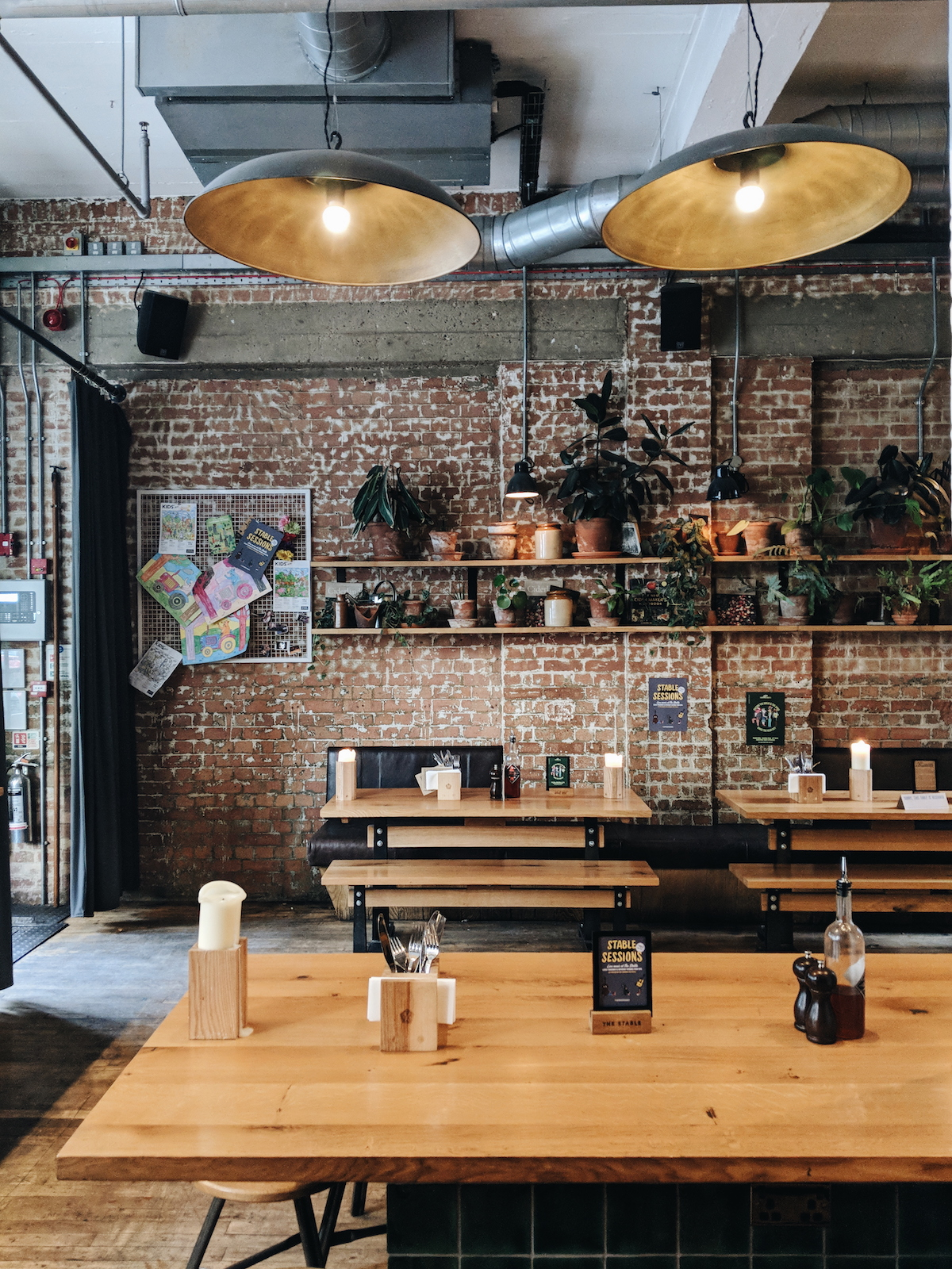 The rustic yet modern decor of The Stable in Whitechapel