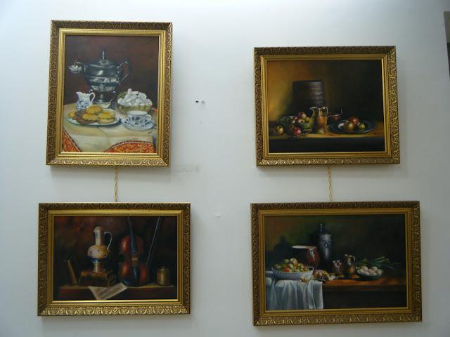 Les peintures de mes élèves à l'expo 18