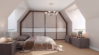 Nifty design for attic bedroom