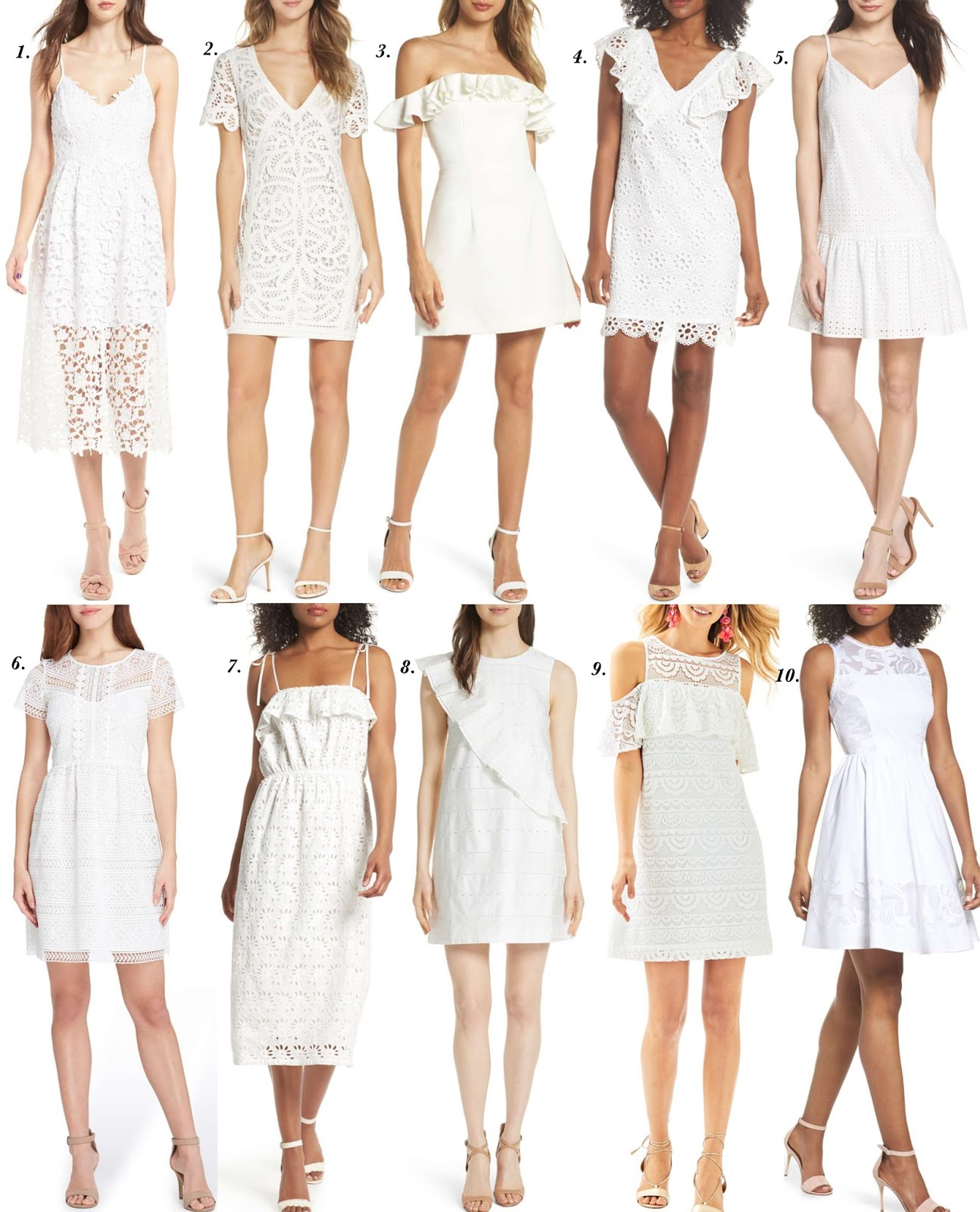 Twenty Amazing White Dresses - Something Delightful Blog