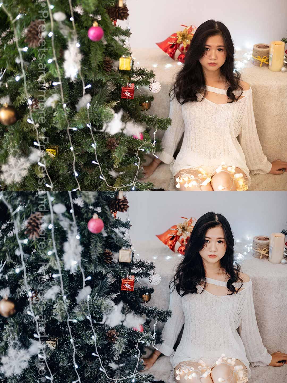 Preset Giáng Sinh tone lạnh
