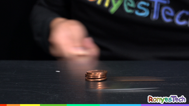 Inertia Coin Tower Trick