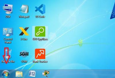 Cara membuka atau menampilkan On-Screen Keyboard