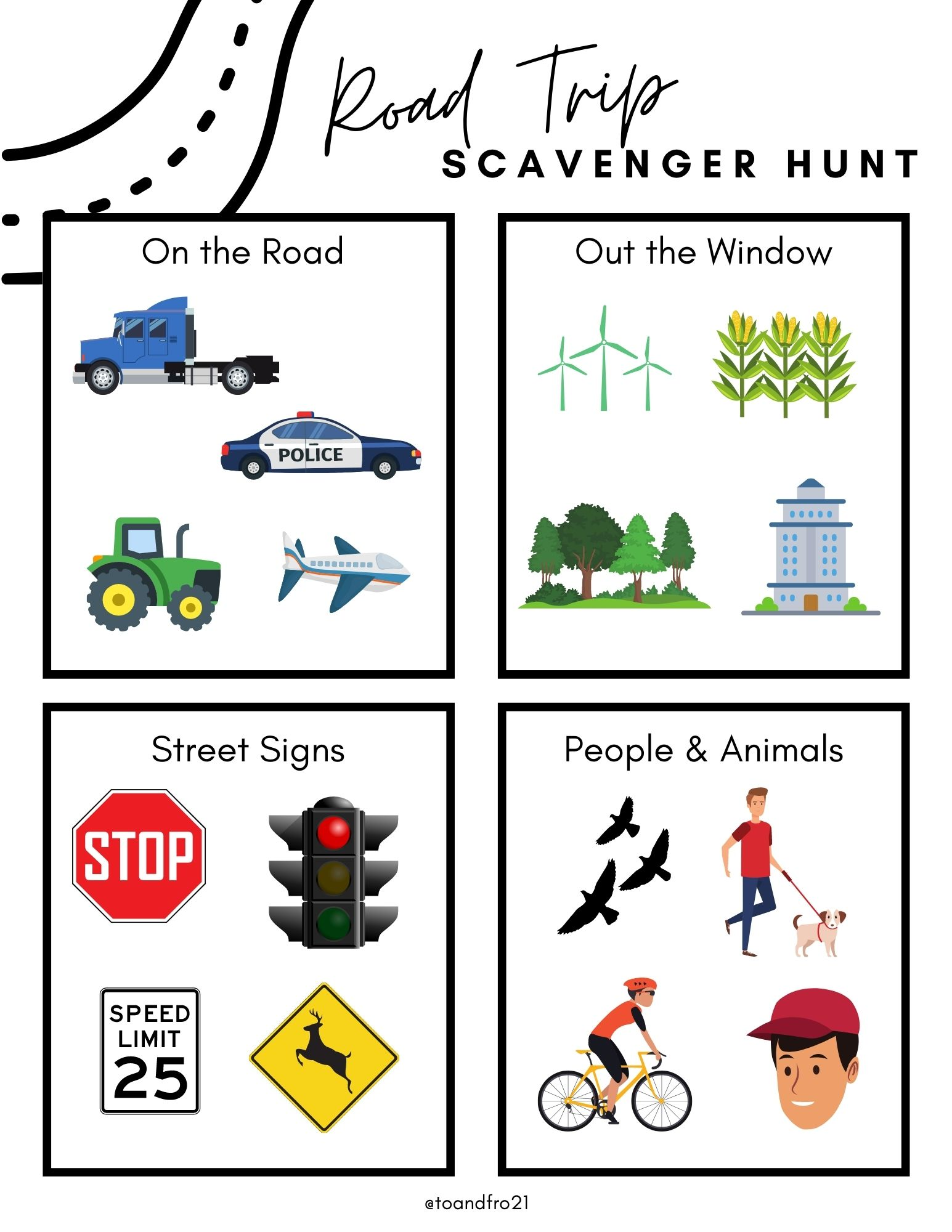 Road Trip Scavenger Hunt for Kids (plus FREE printable)