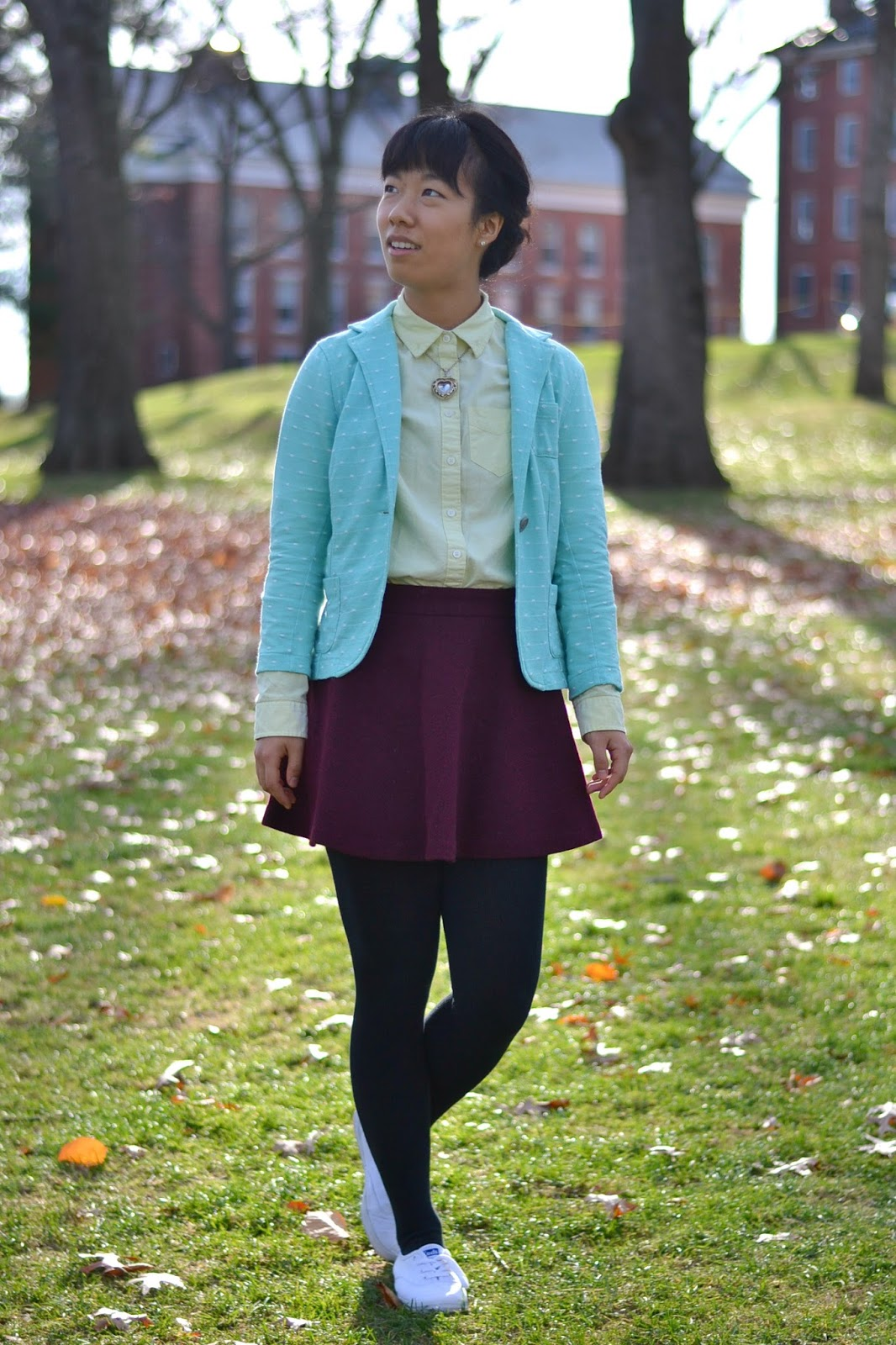 college fashion, colorful outfit