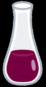 細長いデキャンタのイラスト(ワイン)