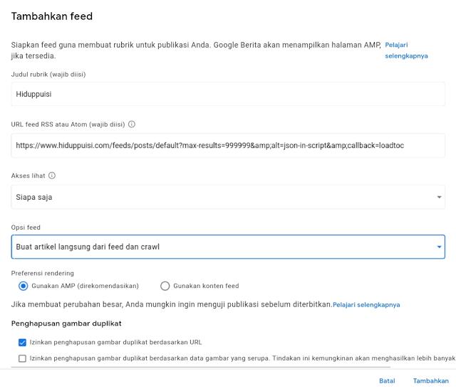 Proses daftarkan blog di Google News
