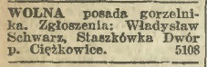 Staszkówka gorzelnia 1922