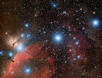 Orions Belt: Alnitak, Alnilam, Mintaka, Horsehead Nebula, Flame Nebula