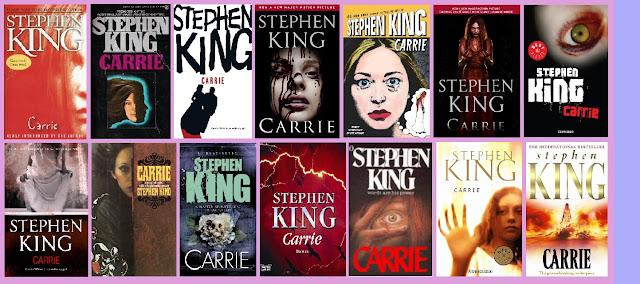 portadas del libro de terror Carrie, de Stephen King