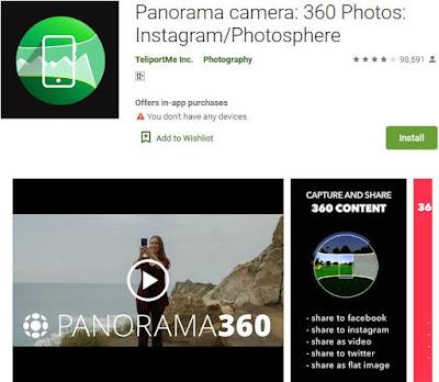 aplikasi kamera 360 derajat