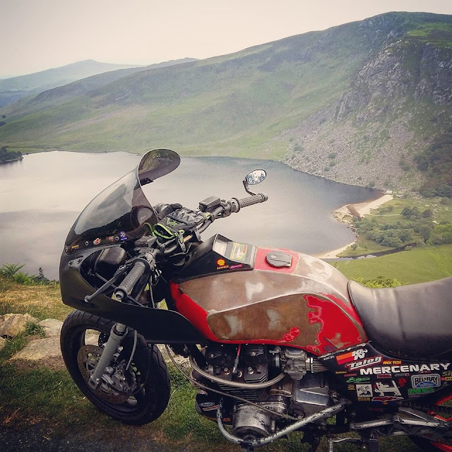 Kawasaki GPZ 1100 at the Guinness Estate, Lough Tay, County Wicklow - Photo Evan Kelly