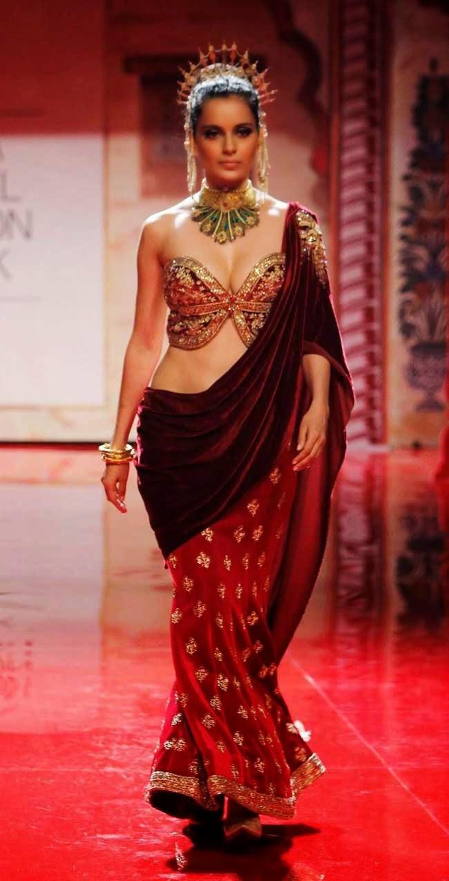 Kangana Ranaut at BMW Bridal Fashion Week 2014   Sarees Villa