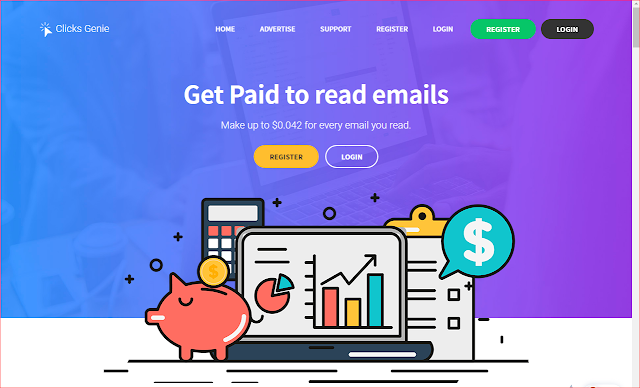 You Can Earn Money By Reading Emails Daily   Clicks Genie