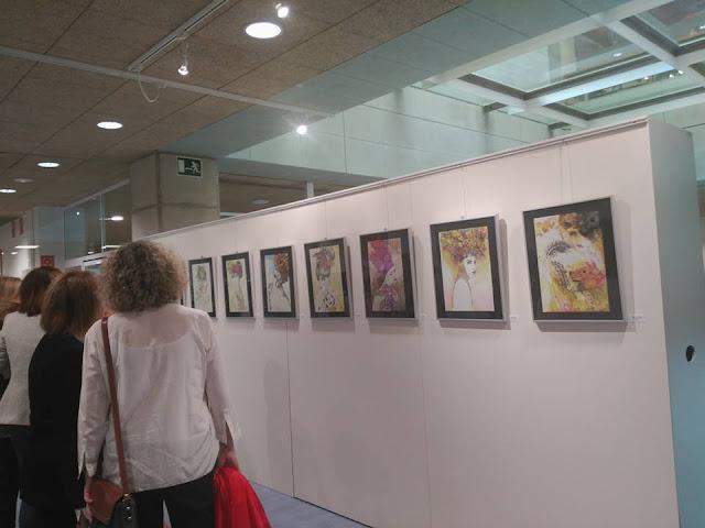 Inauguración de la exposición de pintura de Adela Sastre.