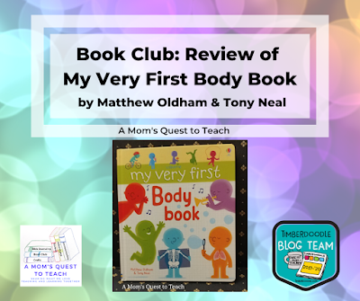 My Very First Body Book, A Mom's Quest to Teach Logo, and Timberdoodle Blog Logo